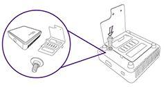 Fixare adaptor wireless pe suport