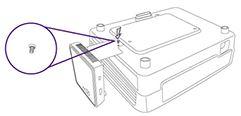 Prindere de carcasa videoproiectorului