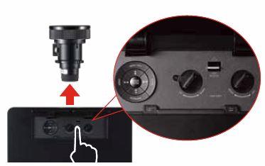 Instructiuni de inlocuirea lentile/obiectibe la proiectoarele BenQ PX9210 BenQ PU9220