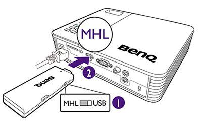 Videoproiectoare care dispun de conexiune MHL ce va fi utilizata in cadrul solutiei wireless propuse de Darer