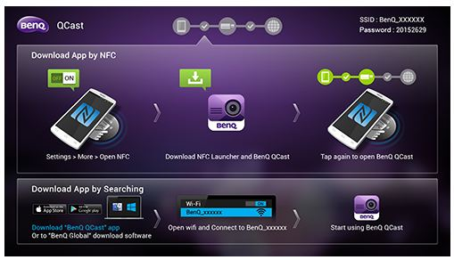 Home Page adaptor BenQ QCast
