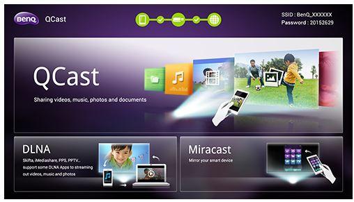 Miracast la videoproiectoare BenQ