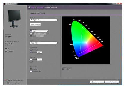 Software de calibrare Palette Master Element